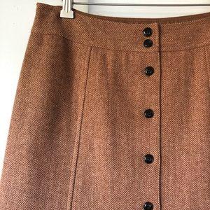 Talbots herringbone wool fit & flare skirt sz 6